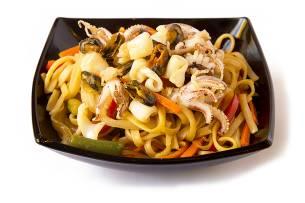 Морепродукты в Устричном соусе